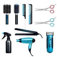 conjunto de ferramentas de cabeleireiro