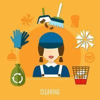 gráfico da empresa de limpeza