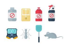 Livre Home Pest Exterminator ícones vetor