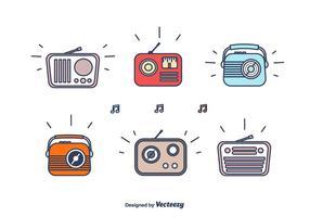 Jogo de rádio retro dos desenhos animados vetor