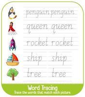 planilhas de rastreamento do alfabeto inglês