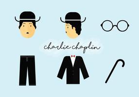 Pacote de vetores de elementos de charlie chaplin