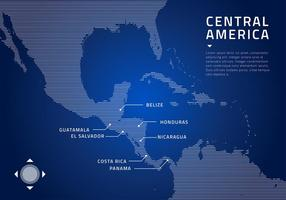 Mapa da América Central tecnologia vector livre