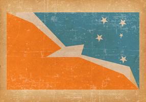 Bandeira do Grunge da província de Terra do Fogo Argentina vetor