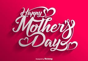 Vector feliz dia das mães lettering fundo