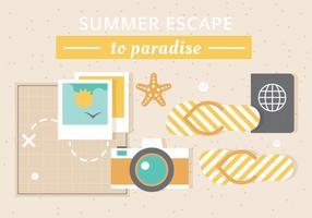 Elementos livres do verão do vetor