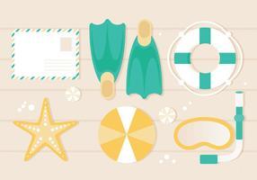 Free Flat Design Vector Ilustração Verão