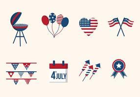 Plano EUA Dia da Independência vetores