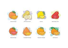 Livre ícones da família Citrus vetor