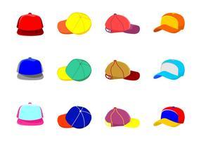 Ícones do chapéu do camionista vetor
