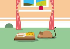 Rato armadilha ilustração vetorial vetor