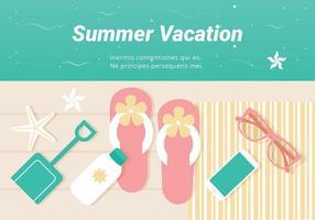 Férias Verão Grátis Ilustração Vetor