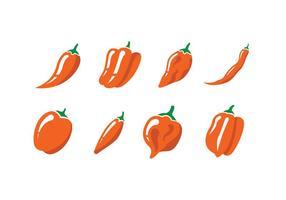 Pimenta, pimentas, vetorial, ícone vetor
