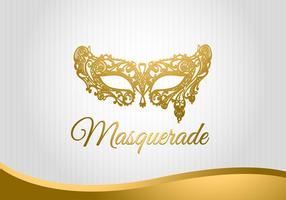 Masquerade Mask Background Vector Grátis