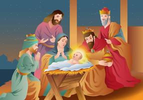Feliz Natal Epifania Feliz vetor