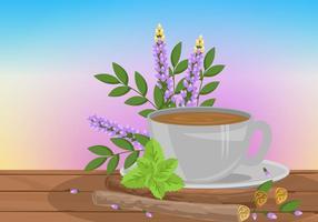 Vector de chá de raiz de alcaçuz