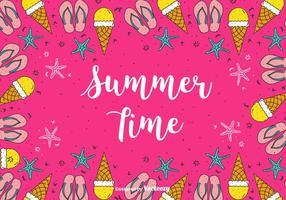 Verão, tempo, vetorial, fundo