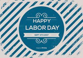 Fundo retro velho do Dia do Trabalhador vetor