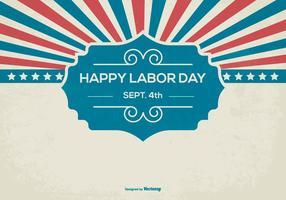 Fundo retro feliz do Dia do Trabalhador vetor