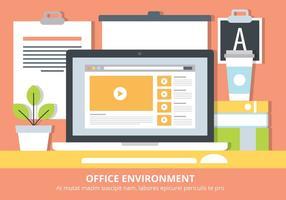 Elementos de vetor de estações de trabalho planas livres