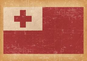 Grunge velho da bandeira de Tonga vetor