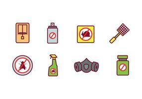 Conjunto de ícones de controle de pragas vetor