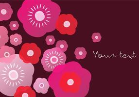Vermelho, florescendo, fundo vetor