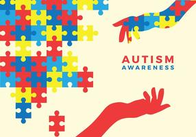 Autismo Awarness Vector Livre