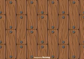 Teste padrão sem emenda das pranchas de madeira - vetor