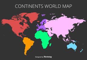 Mapa do mundo colorido do vetor
