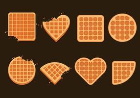 Bélgica conjunto de ilustração Waffles vetor