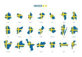 Vetor do mapa da Suécia