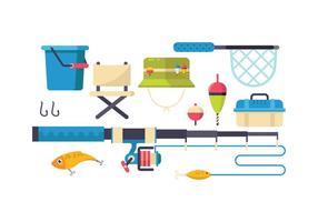 Jogo grátis de ícones de ferramentas de pesca vetor