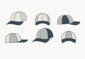 Coleção cinzenta do chapéu do camionista vetor