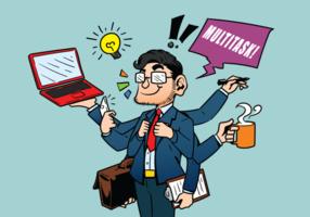 Multitarefa ilustração vetorial