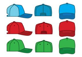 Pacote do vetor do chapéu do camionista