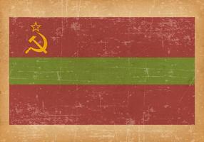 Bandeira do Grunge de Transnistria vetor