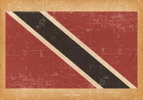 Grunge Bandeira de Trinidad e Tobago vetor
