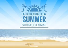 Ilustração de fundo de verão vetor