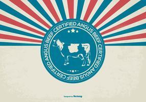 Certified Angus Beef Ilustração vetor