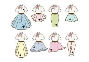 Vetores da roupa da saia da caniche