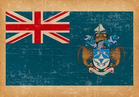 Bandeira do Grunge de Tristan de Cunha vetor