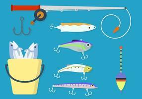 Vetores lisos do elemento da pesca