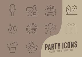 Ícones da coleção do feliz aniversario