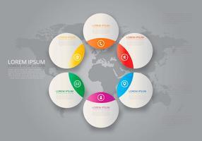 Modelos Circulares de Tel Infographic vetor