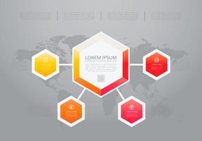 Hexagon Tel Infografia Modelos vetor