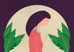 Ilustração do perfil da mulher vetor