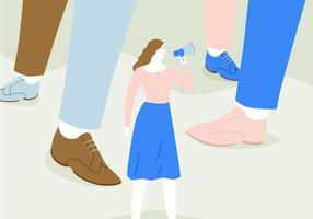 Ilustração da fala da mulher vetor