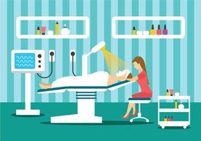 Ilustração do tratamento da clínica de beleza vetor
