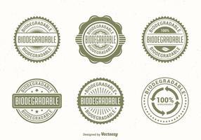 Etiquetas verdes do vetor biodegradável